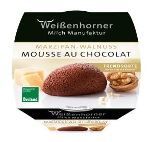 Mousse au Chocolat Marzipan Walnuss